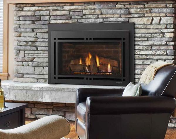 Clean Face Rectangular Front For 35 Ruby Gas Fireplace Inserts
