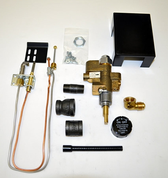 Copreci 91PKN Natural Gas Safety Pilot Kit with Rear Inlet Valve A safety pilot adds both convenience and peace of mind to the operation of your gas appliance. This kit has a Copreci valve and is designed for use with natural gas burner pans that have a 3/8