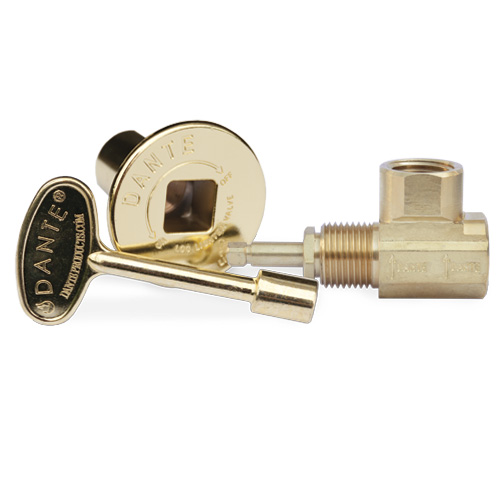 Globe Gas Valve, Key and Floor Plate Kit - Angled - Polished Brass ...