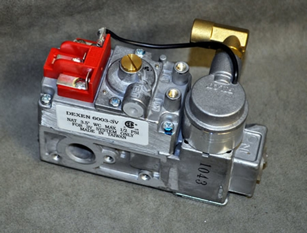 Dexen Natural Gas Safety Pilot Valve with Electronic Ignition Natural gas safety pilot valve has an electric ignition for ease of use. Safety pilot valve is rated for temperatures up to 175 degrees. Valve is designed to handle up to 82