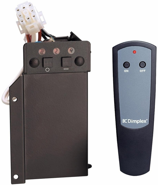 Dimplex BFRC-KIT 3-Stage Remote Control Kit for Select Electric Fireplaces Imagine being able to control the heat settings of your firebox from anywhere in the room or from another part of the house. The Dimplex BFRC-KIT Remote Control Kit allows you to a