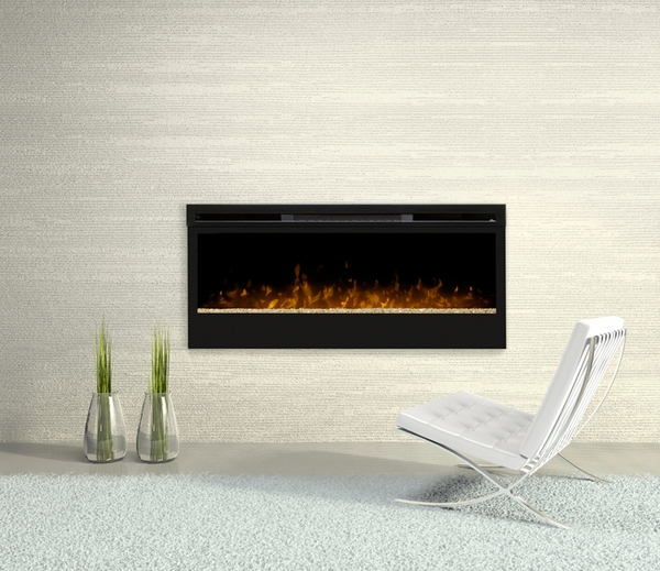 BLF50 Synergy Wall Mounted Electric Fireplace with Glass Ember Bed