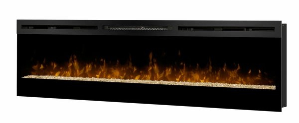 BLF74 Galveston Wall Mounted Electric Fireplace with Glass Ember Bed