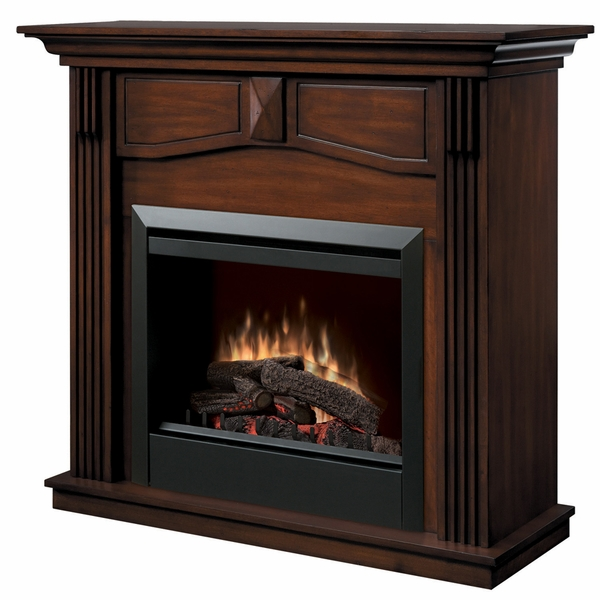 Dimplex DFP4765BW Holbrook Electric Fireplace and Mantel with Log Set The simple elegance of this Holbrook electric fireplace will certainly be a welcome addition to any home featuring classic decor. 2-inch black trim highlights the fireplace