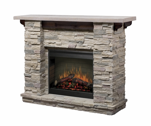 Dimplex GDS26-1152LR Featherston Electric Fireplace and Mantel with the DF2608 Log Set Whether your current decorating style leans toward contemporary or traditional