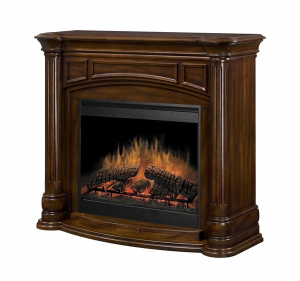 Dimplex Gds30 Bw1053 Belvedere Electric Fireplace And Mantel With Dfb8842 Log Set