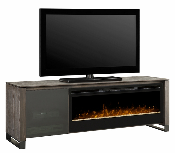 Howden Electric Fireplace and Media Console with BLF50 Glass Ember Bed