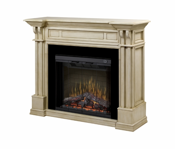 Dimplex Kendal Electric Fireplace And Mantel With Df3215 Multi Fire Log Set