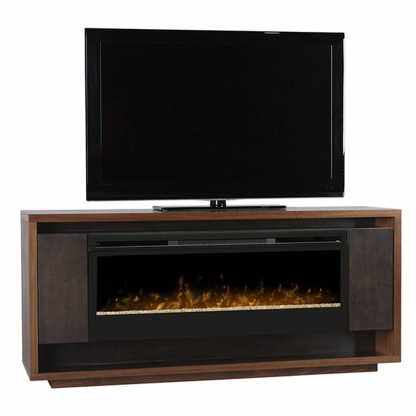 Dimplex Maddock Electric Fireplace And Media Console With Blf50 Glass Ember Bed