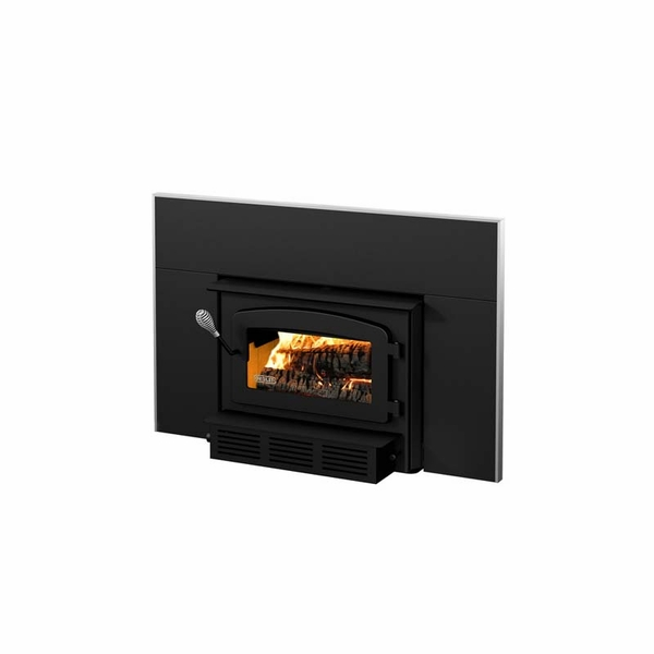 Drolet Escape 1400 I Wood Burning Fireplace Insert Trio