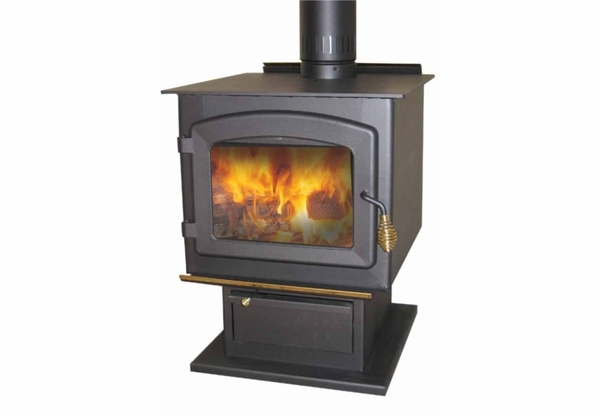 Drolet Myriad EPA-Approved Wood-Burning Pedestal Stove - DB03051 - Myriad EPA-Approved Wood-Burning Pedestal Stove - DB03051