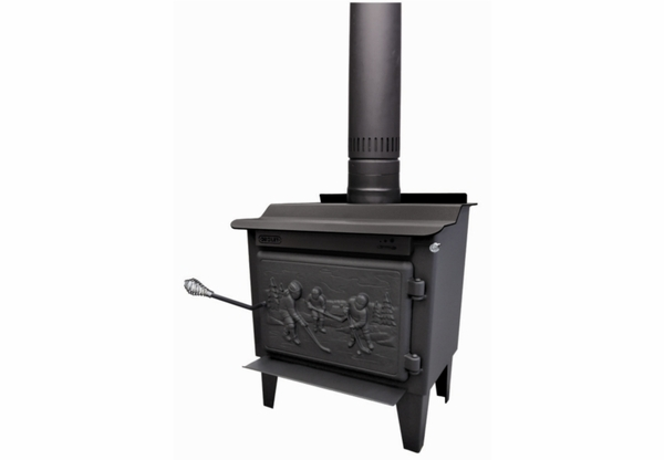 Drolet rocket extra small wood burning stove db03185 for Small efficient wood stoves