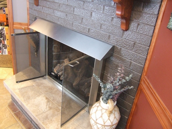 Elite Glass Enclosure Fireplace Hood With Surface Mount 42 Inch X 6 Inch