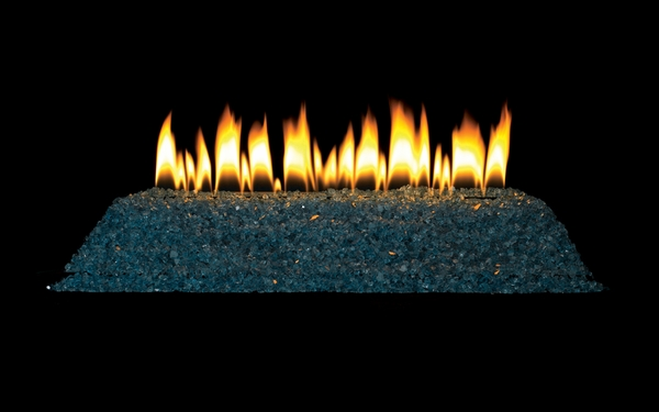 Empire 24 Quot Clear Blue Crushed Ventless Natural Gas Fire