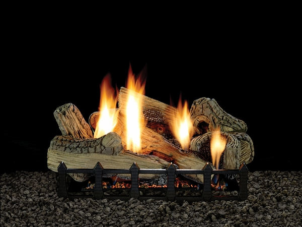 Empire 30 Canyon Ceramic Fiber Ventless Natural Gas Log Set And Intermittent Harmony Burner