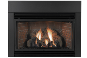 Empire 6 x 3 Contemporary Fireplace Insert Surround - For Medium Innsbrook Vent-Free and Direct Vent Gas Fireplace Inserts One of the best elements you can add to a fireplace to create a finished
