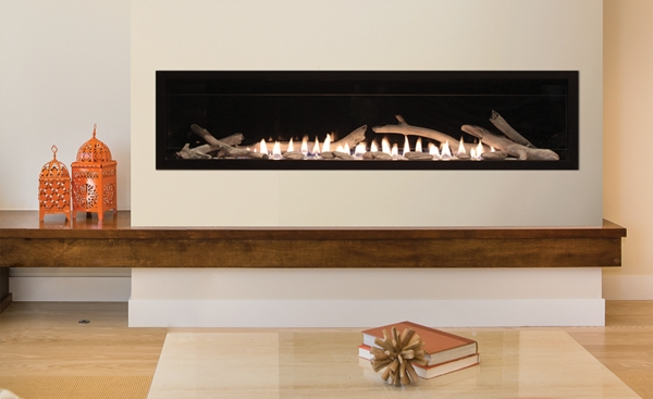 Empire Boulevard 60 Inch Vent Free Contemporary Linear Gas