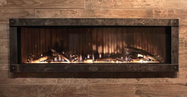Empire Boulevard Direct Vent Contemporary Linear Gas Fireplace - Electronic Ignition - 48 Inch - DVLL48BP92