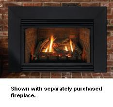 Contemporary Black Steel Fireplace Insert Surround - For Large ...