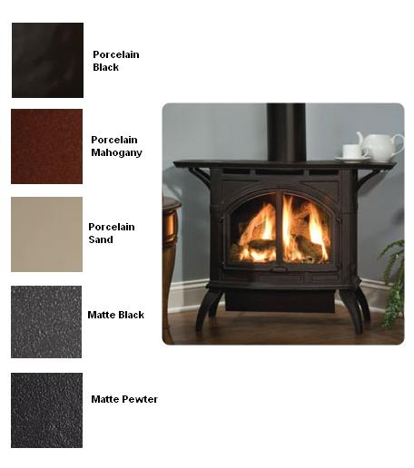 DVP30CA30 Heritage Direct Vent Cast Iron Gas Stove with Matte Finish ...