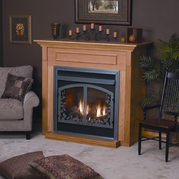 Hearth Cabinet Fireplaces: Empire EMBF1S Standard Wooden Mantel Cabinet With Base