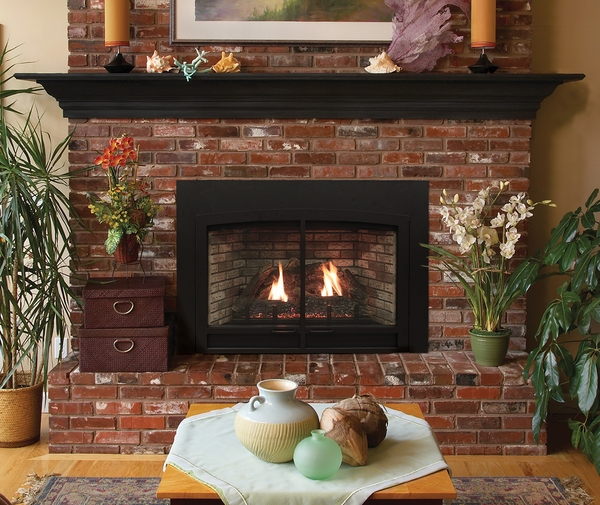 Empire Small Innsbrook Direct-Vent Clean Face Fireplace Insert with Blower - Intermittent Controls The Empire small Innsbrook fireplace insert is the perfect addition to your home. Transfer your wood burning fireplace to a natural gas or propane fueled fi