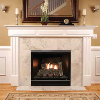 Empire Tahoe Deluxe Clean Face Direct Vent Gas Fireplace with Remote-Ready Millivolt Controls - 32 Inch A fireplace that