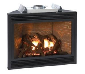 Tahoe Luxury Direct Vent Propane RF Fireplace with Remote Control ...