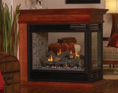 Empire Tahoe Premium Direct Vent Natural Gas Peninsula Fireplace - 36
