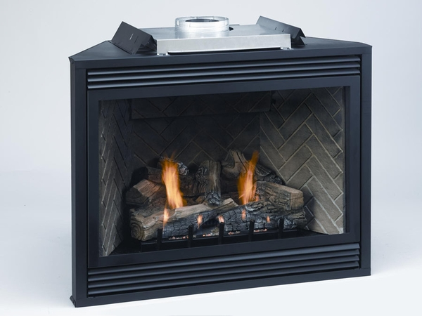 Empire Tahoe Premium Direct Vent Natural Gas RF Fireplace with Remote Control and Blower - 48