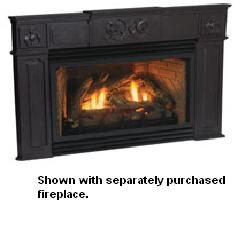 Empire Traditional Black Cast Iron Fireplace Insert Surround - For Small  Innsbrook Fireplace Inserts - SC25-6-BL