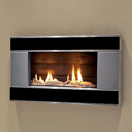 Escea St900 Indoor Gas Fireplace With Verta Stainless Steel Stone Front