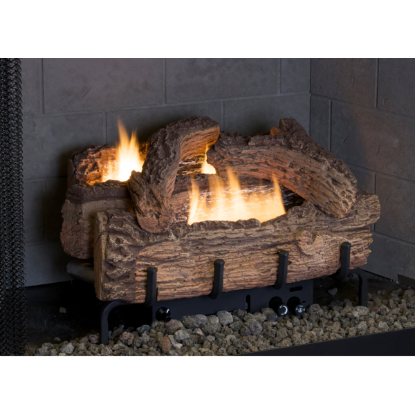 Everwarm 24 Palmetto Oak Ventless Natural Gas Log Set With Millivolt Control