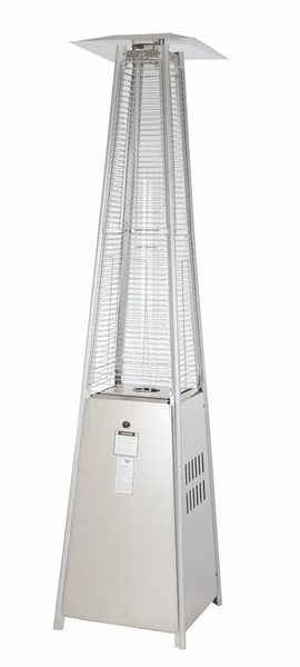 Fire Sense Stainless Steel Pyramid Flame Propane Gas Patio Heater