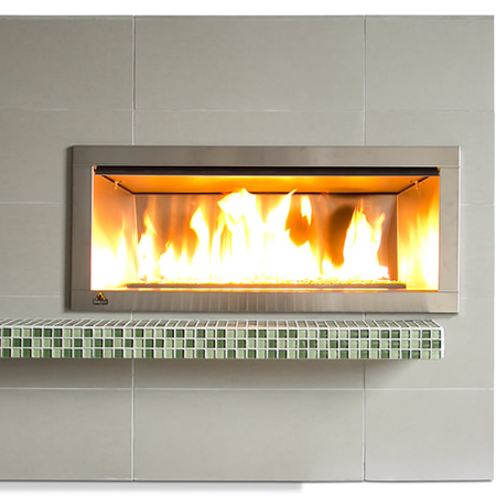 Firegear Outdoor Linear Fireplace with 2