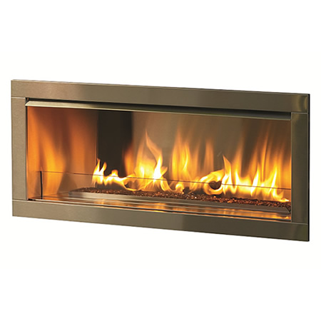 outdoor linear fireplace with 2 faceplate od42 n