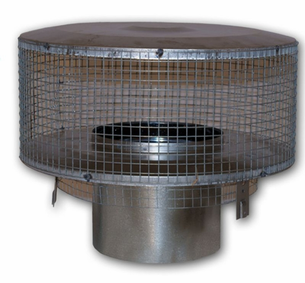Round Chimney Top With Mesh For Use With Ihp Superior 8