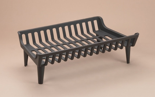 Series 24 in. 'Flat Bottom' Cast Iron Fireplace Grate
