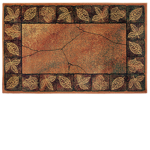 Goods Of The Woods Leaf Rectangular Rug 11025