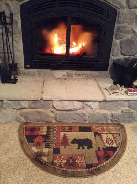 Goods Of The Woods Oriental Half Round Olefin Hearth Rug With Bear Pattern 25 Inch X