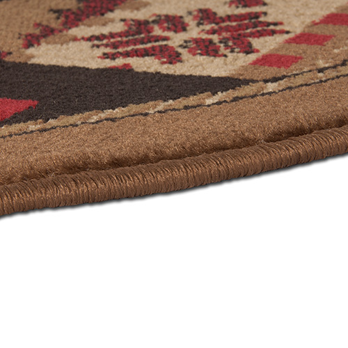 Goods Of The Woods Oriental Half Round Olefin Hearth Rug With Bear Pattern    25 Inch X 42 Inch