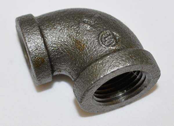 Hearth products controls black iron reducing gas pipe