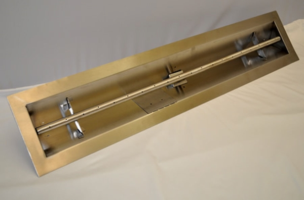 Hearth Products Controls Stainless Steel Outdoor Natural Gas Linear Trough Burner 36 Inch