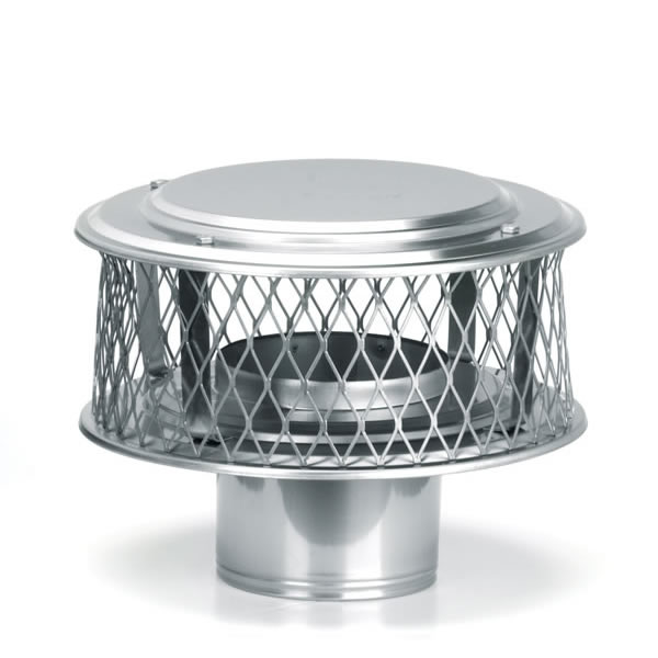 Guardian 8 In Diameter 304 Alloy Stainless Steel Chimney Cap. Weatherband  High Wind Wood Stove ... - Wood Stove Chimney Caps - Best Chimnet 2017