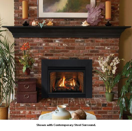 Empire Innsbrook Small Direct Vent Gas Fireplace Insert with Millivolt  Controls - Natural Gas - DV25IN33LN - Innsbrook Small Direct Vent Gas Fireplace Insert With Millivolt