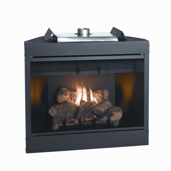 Empire Keystone Deluxe B Vent Flush Face Gas Fireplace With Direct Ignition 34 Inch