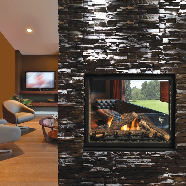 Kingsman Clean View Direct Vent See Through Gas Fireplace