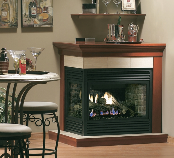 Kingsman Multi Sided Direct Vent Gas Fireplace Left Hand
