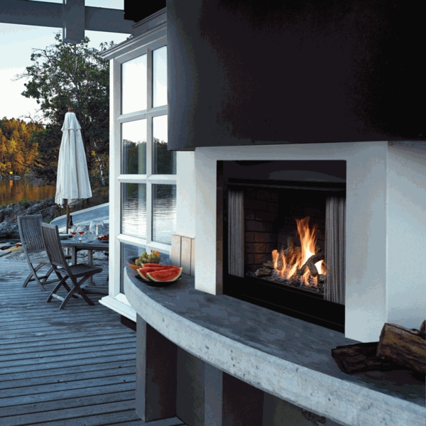 Kingsman OFP42 Outdoor Vent Free Gas Fireplace - Black Make your deck the most comfortable room in your home with a Kingsman OFP42 Outdoor Fireplace. Intended for outdoor use only