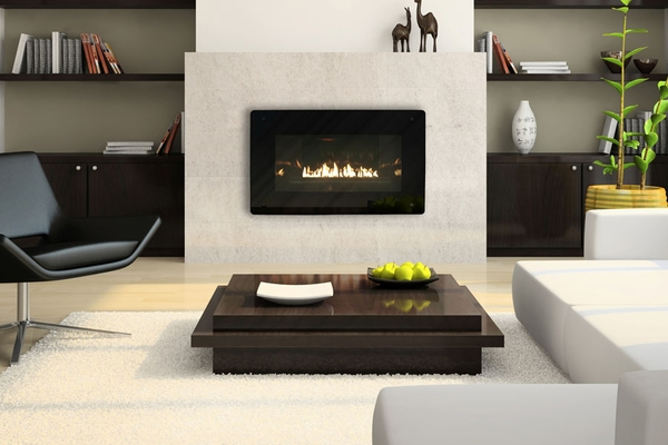 Loft Vent-Free Zero-Clearance Gas Fireplace with Intermittent ...